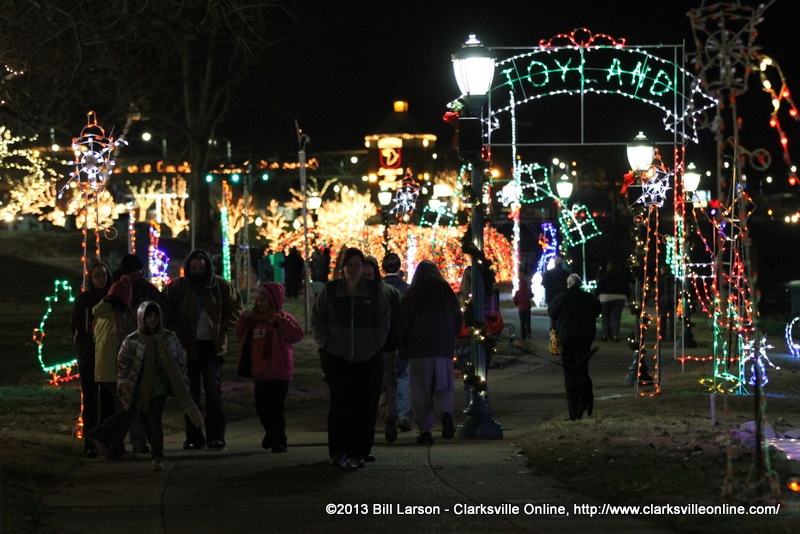 ... Park at Christmas on the Cumberland in Clarksville, Tennessee