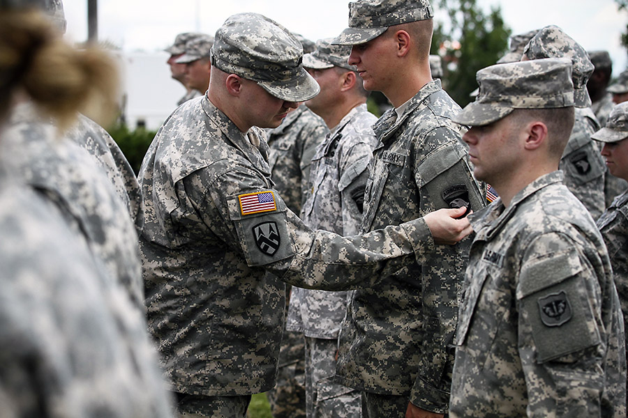 """Army National Guard and U.S. Army Reserve donned the historic """"Old ..."""